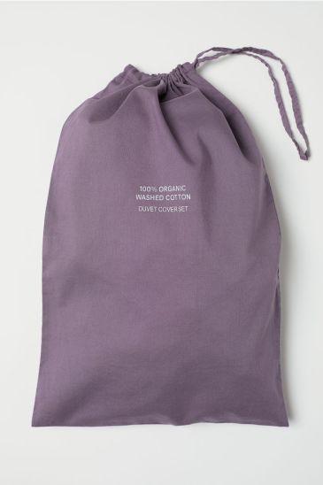 Set copripiumino in cotone lavato, H&M